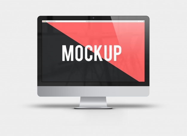 computer screen frontal view mock up psd file free download