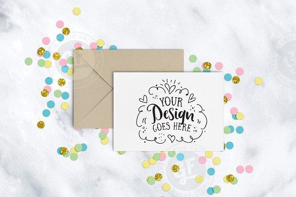 confetti greeting card mockup mockup store