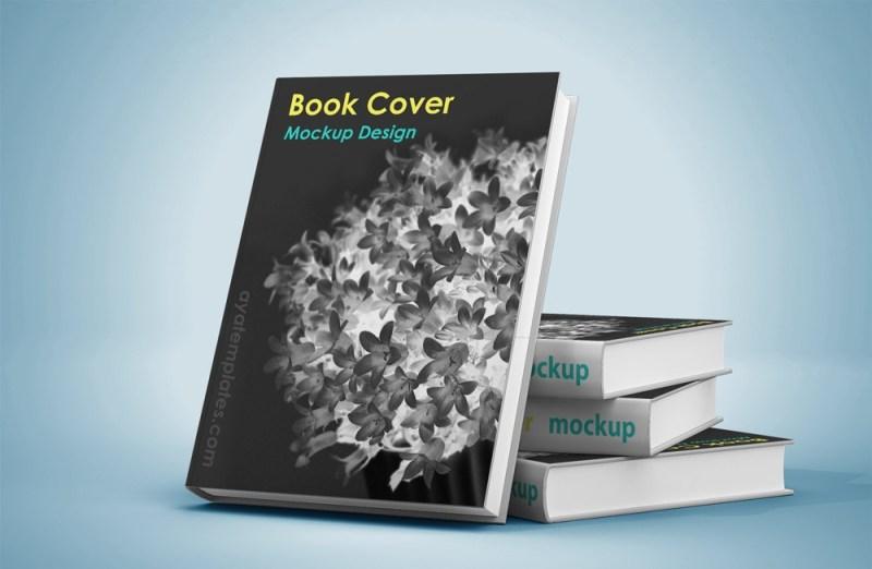 cover book mockup design aya templates