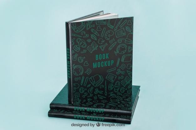 dark book cover mockup psd file free download