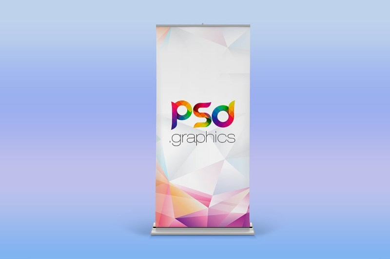 download this free roller banner mockup in psd desinghooks