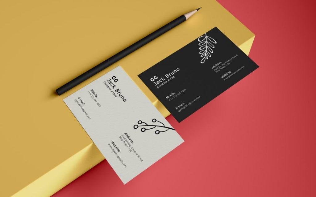 elegant business card mockup template ltheme