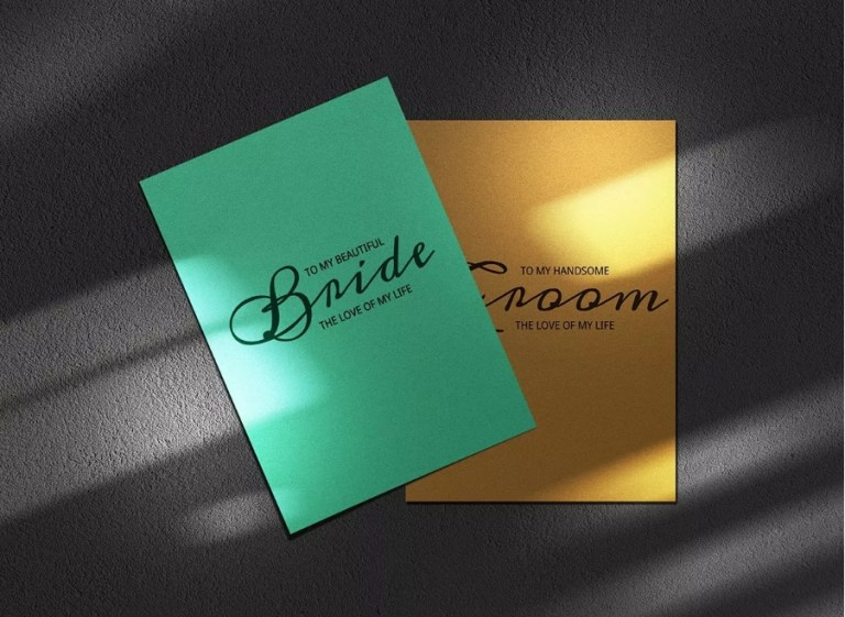 elegant postcard mockup psd template mockup free downloads