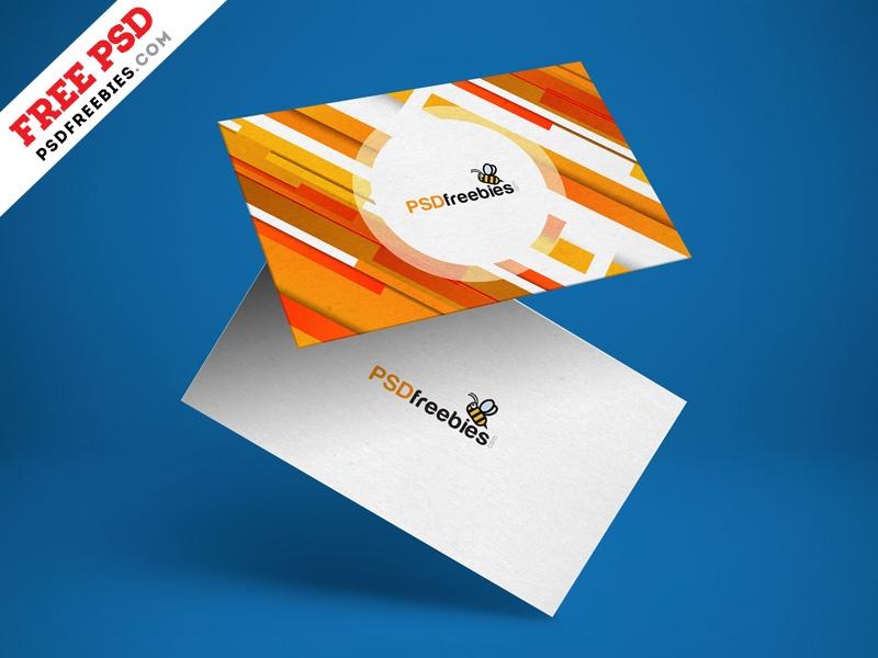 floating business card mockup psd psd freebies on dribbble