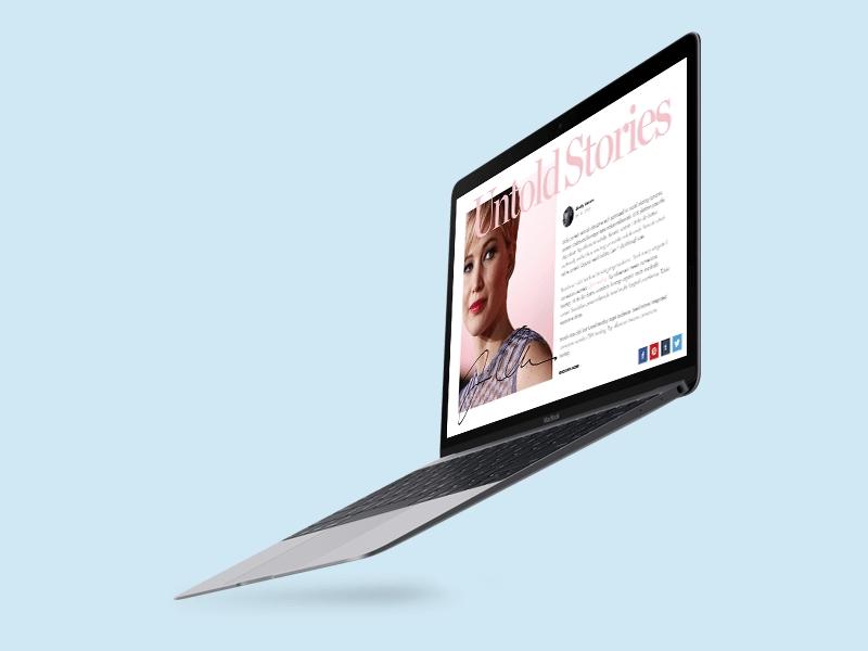 flying apple macbook mockup
