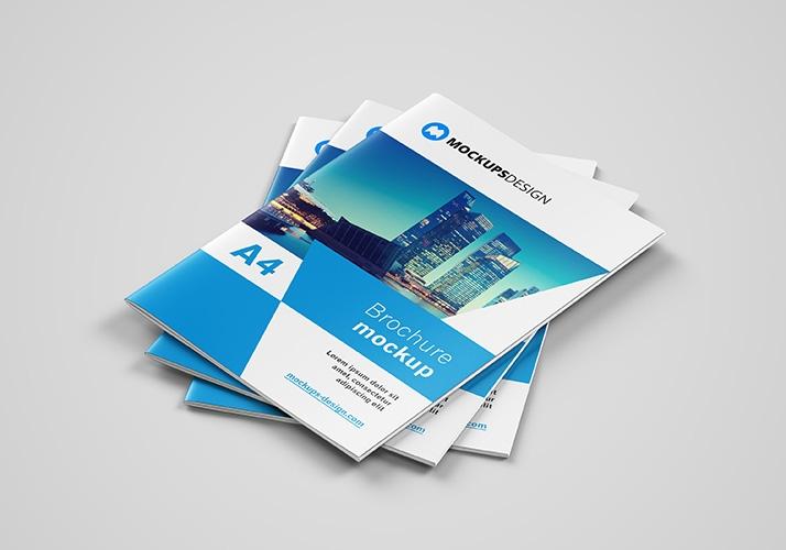free a4 brochure mockup mockups design free premium mockups