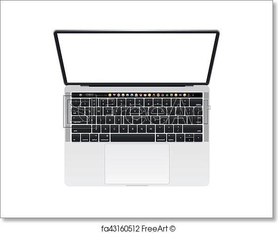 free art print of apple macbook pro touch bar notebook computer