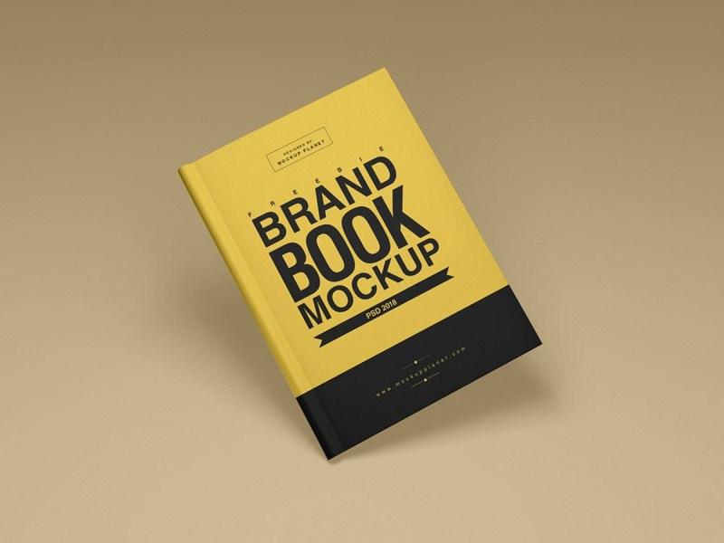 free brand book cover mockup mockuptree