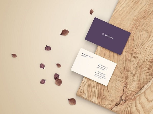 free business card mockup front and back