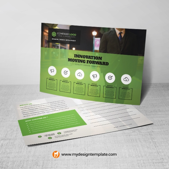 free download psd business postcard mockup with smart objects