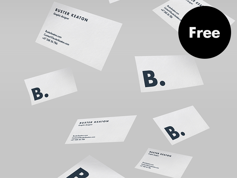 free floating business card mockup psd design lazy on dribbble