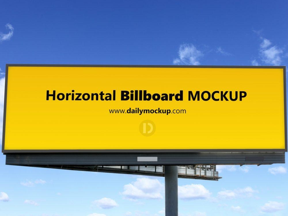 free horizontal billboard mockup daily mockup
