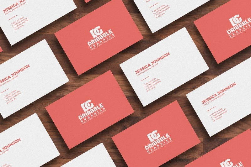 free isolated business card mockup dribbble graphics