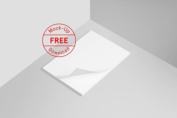 free letterhead mockup on pantone canvas gallery