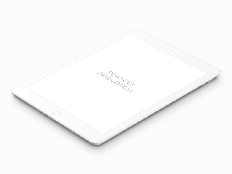 free white ipad pro mockup mockuptree