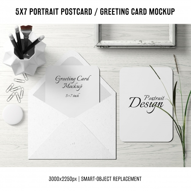 greeting card mock up psd file free download