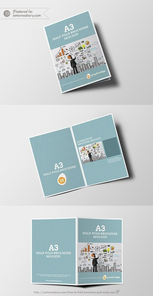 half fold brochure mockup free psd mockups bi fold brochure mockup