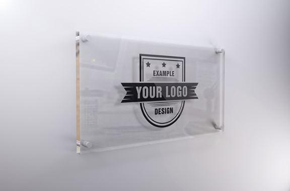interior glass sign mockup template sharetemplates