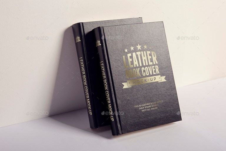 leather book cover mock up xepeec graphicriver