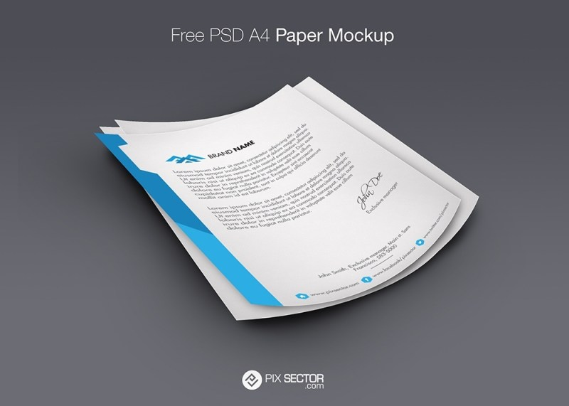 letterhead mockup psd free pixsector