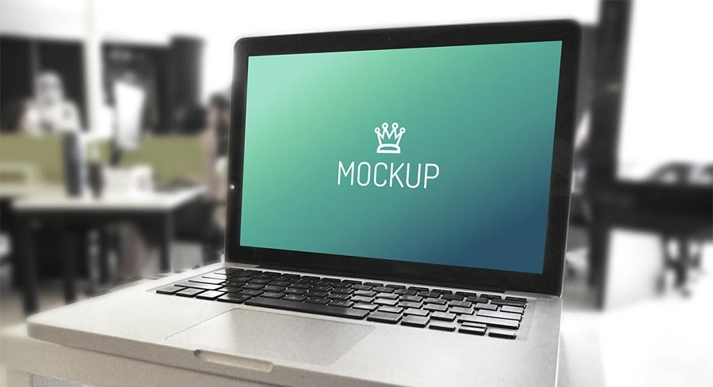 macbook and iphone in office mockups mockupworld