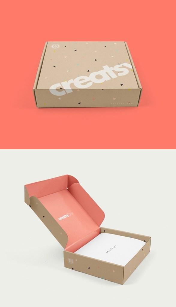 mailing box psd mockup graphicburger
