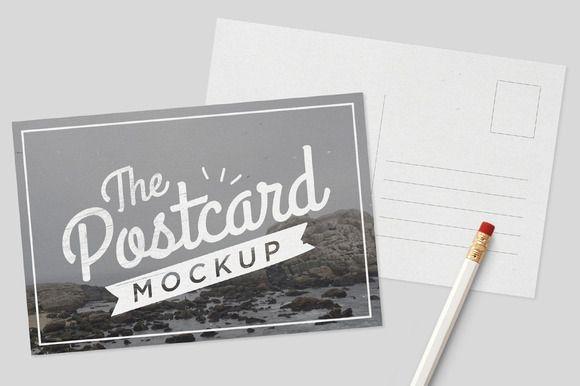 mockup postcards tomodachi on creative market digital