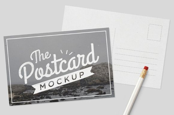 mockup postcards tomodachi on creative market digital