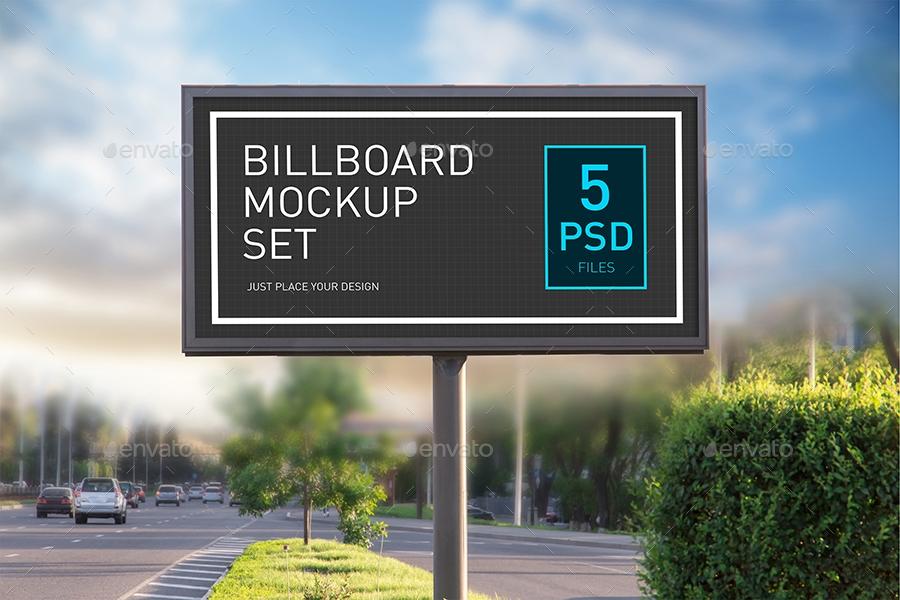 modern billboard mock up set sergraphic graphicriver