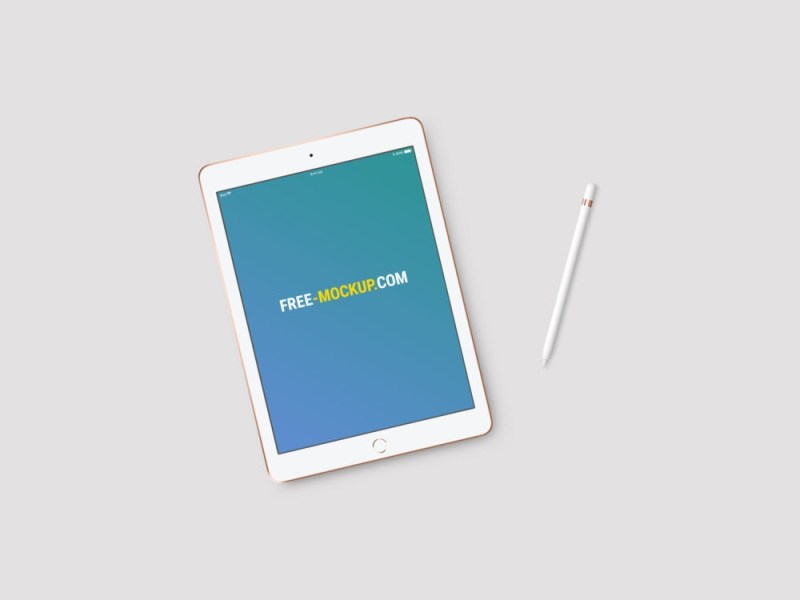 new 97 inch ipad 2018 mockup with status bar free mockup