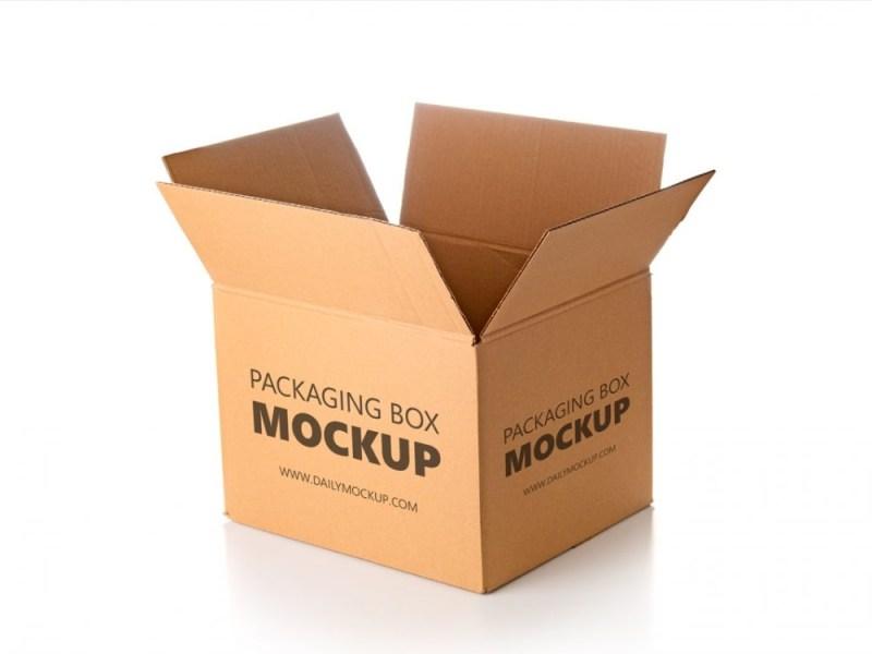 packaging box mockup free daily mockup