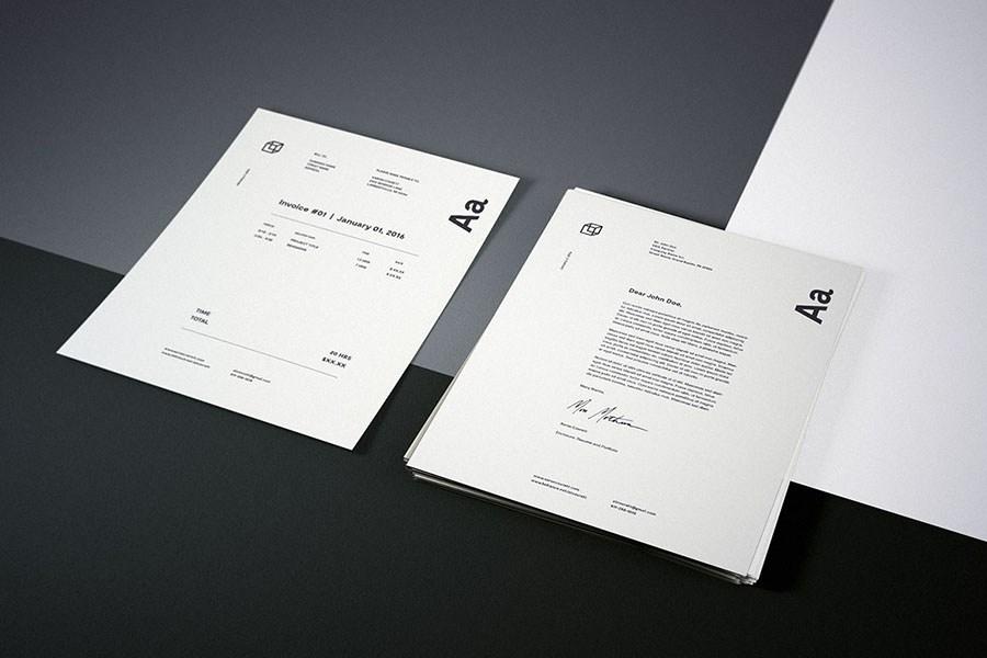photorealistic letterhead mockup free design resources