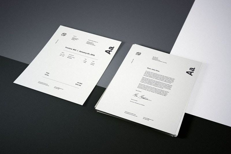 photorealistic letterhead mockup free design resources