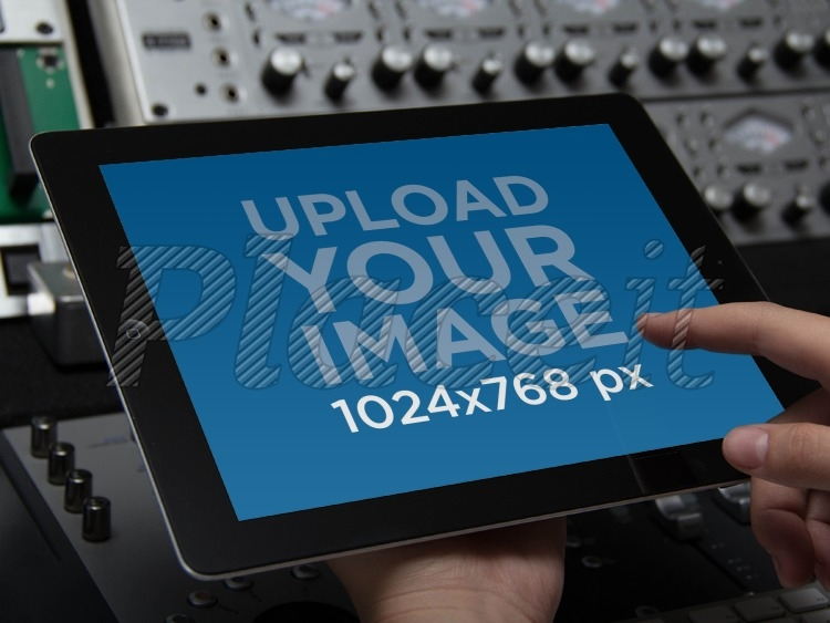 placeit ipad mockup ipad at music studio