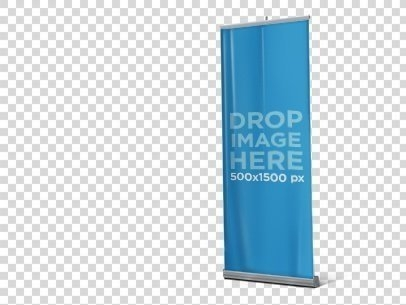 placeit standing vertical banner mockup