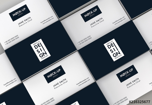 repeating business cards mockup buy this stock template and explore