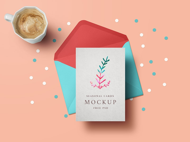 seasonal greeting card mockup graphicsfuel rafi on dribbble