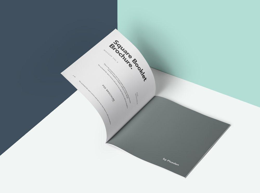 square brochure mockup mockupworld