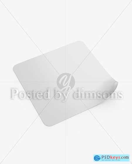 square sticker mockup free download photoshop vector stock image