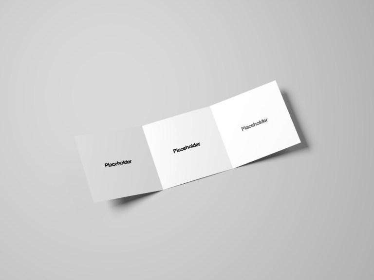 square tri fold brochure mockup free mockup