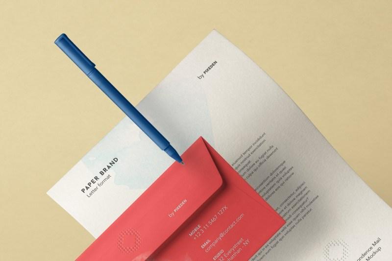 stationery psd envelope letterhead mockup psd mock up templates