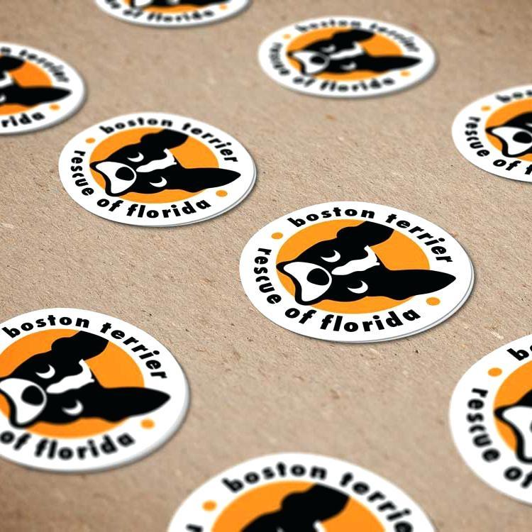 sticker mockup stickers circle psd easysurfer
