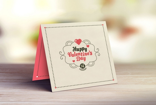 valentine greeting card mockup view specifications details of