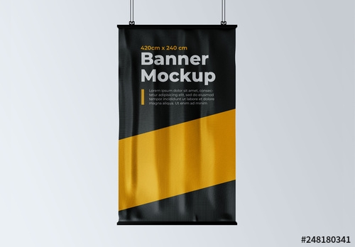 vertical hanging banner mockup buy this stock template and explore