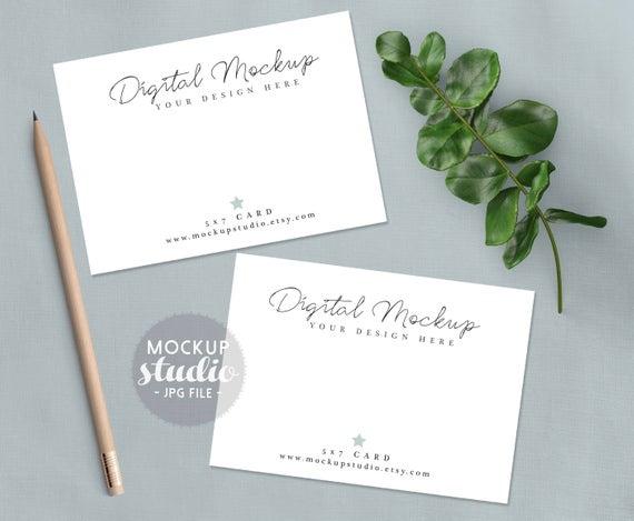 wedding stationery mockup wedding invitation mockup 5x7 etsy