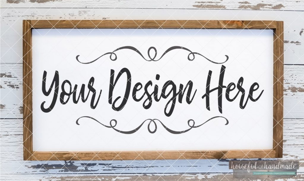 white framed farmhouse wood sign mockup digital file sofontsy