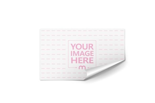 wide rectangle sticker mockup generator mediamodifier