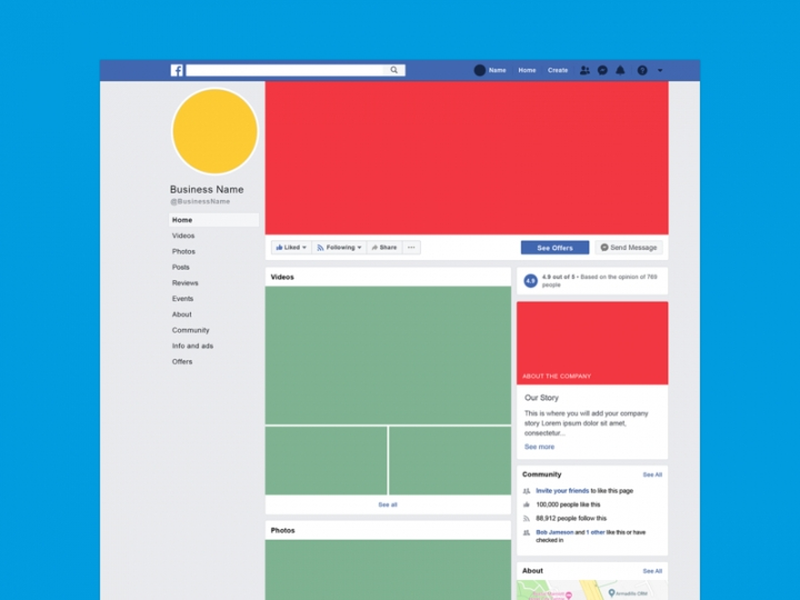 2019 facebook business mockup psd template nohat