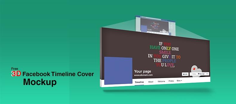3d facebook timeline cover mockup creativecrunk