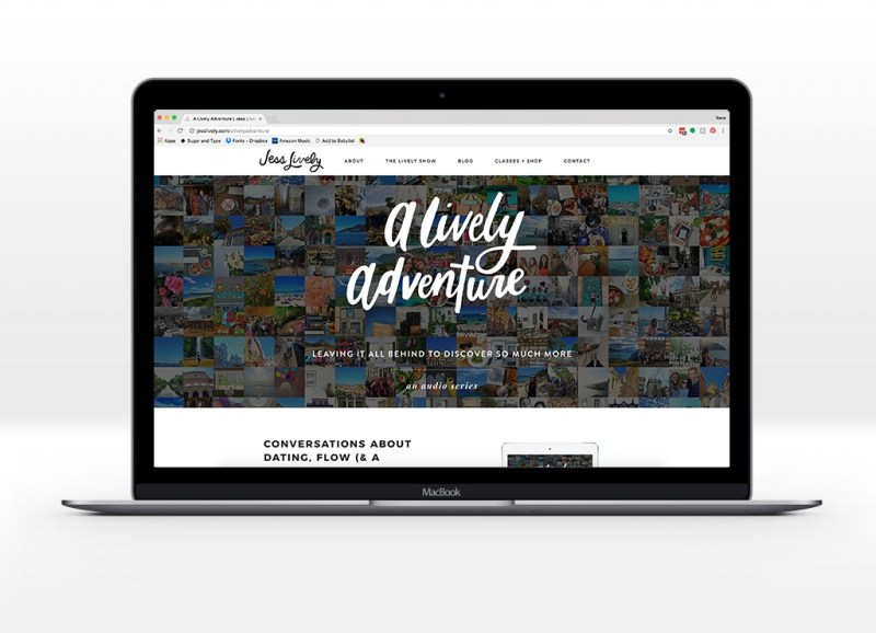a lively adventure website mockup ilana griffo